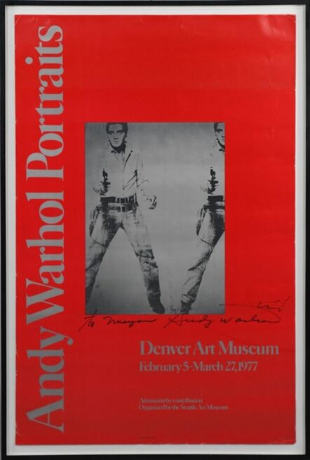 Andy Warhol, 'Double Elvis (Inscribed to Maryanne and hand signed twice by Andy Warhol)', 1977