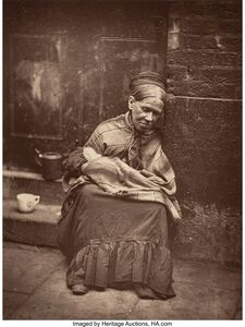 John Thomson, 'The Crawlers, From Street Life in London', 1877