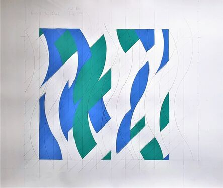 Bridget Riley, 'Ground Study for Revision of August 6th 1999', 1999