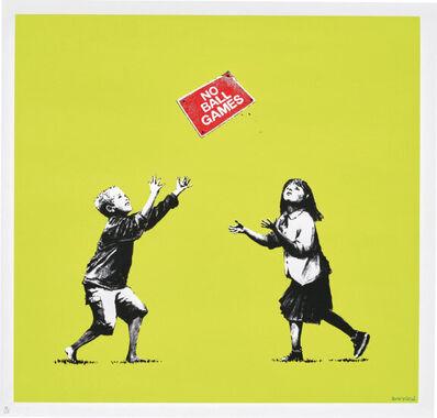 Banksy, 'No Ball Games (Green) (Signed)', 2009