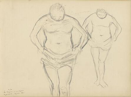 Edgar Degas, 'Copies of C'zanne's Bathers', 1877