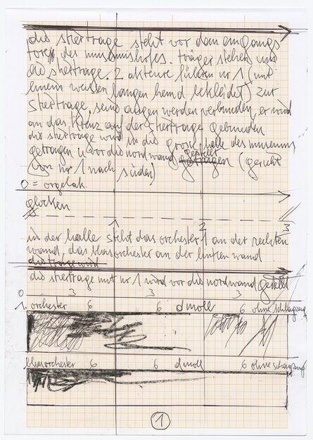 Hermann Nitsch, 'Partitur der 155. Aktion (Aktionssinfonie)', 2018