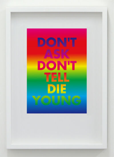 David McDiarmid, 'Don't Ask Don't Tell Die Young', 1994 / 2012