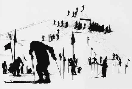Marvin E. Newman, 'Slalom Course, Stowe, Vermont', 1953