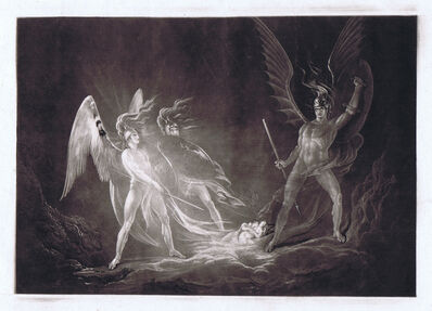 John Martin (1789-1854), 'Eve's Dream - Satan Aroused (small plate)', 1824/26
