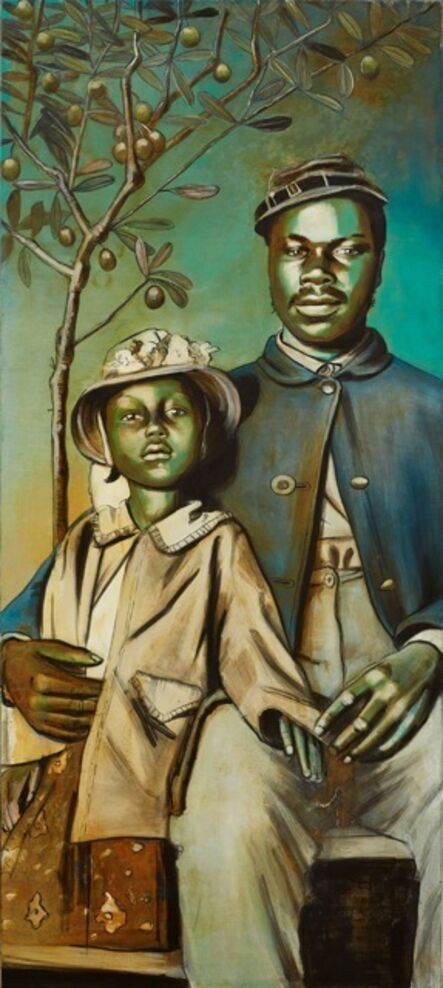 Charlotta Janssen, 'Buffalo Soldier Madonna With Child And Olive Tree', 2016