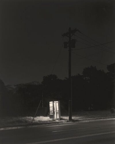 George Tice, 'Telephone Booth, 3 A.M. Rahway, NJ', 1974