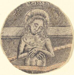after Israhel van Meckenem, 'Christ as the Man of Sorrows', ca. 1470/1480