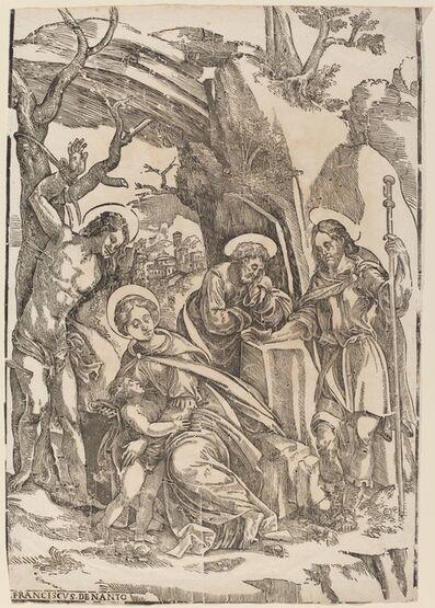 Francesco Denanto, 'The Holy Family with Saint Sebastian and Saint Roch'