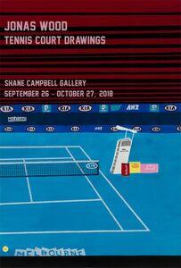 After Jonas Wood, 'Tennis Court Drawings', 2018