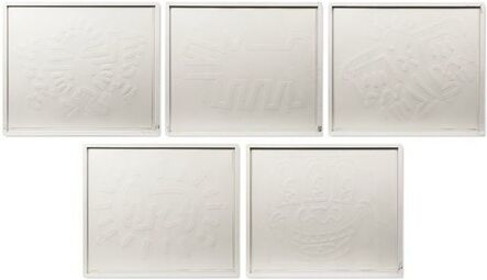 Keith Haring, 'White Icons ', 1990
