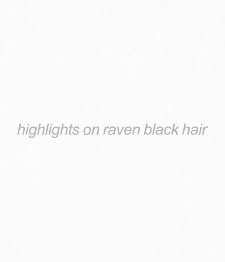 John Baldessari, 'Real Painting (highlights on raven black hair)', 2013