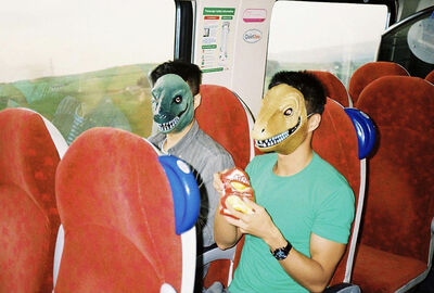 Lin Zhipeng, 'Dinosaurs on the train', 2011