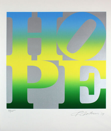 Robert Indiana, 'Hope (Silver, Blue, Yellow, Green)', 2012