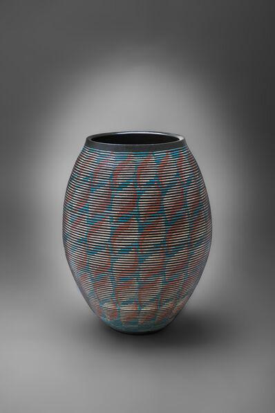 Maeda Hideo, 'Flower Vessel with Geometric Patterns 11', 2015