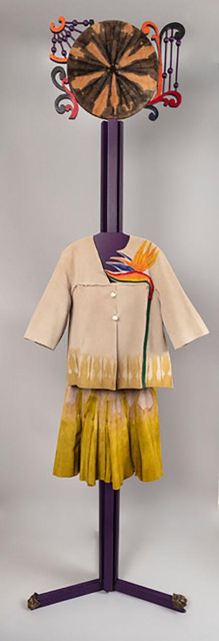 Jae Jarrell, 'Bird of Paradise Ensemble, Ode to Tie-Dyed Suede', 1993/2017