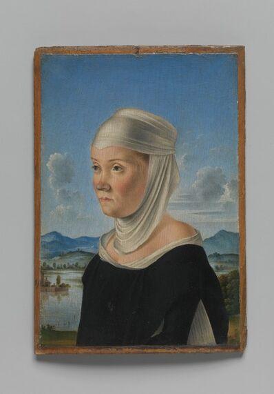 Jacometto Veneziano, 'Portrait of a Woman, Possibly a Nun of San Secondo; (verso) Scene in Grisaille', ca. 1485–95