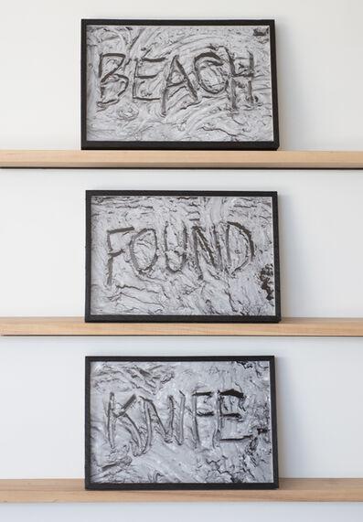 Fay Ray, 'Found, Beach, Knife', 2014