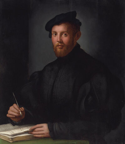 Agnolo Bronzino, 'Portrait of a young man with a book'