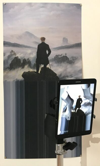 Michael Rees, 'Edge Mat with Feet and Wanderer Above the Sea Fog (1818)', 2018
