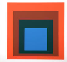 Josef Albers, 'Homage to the Square : Als Wechselwirkung der Farbe (G)', 1977