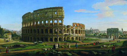 Gaspar Van Wittel, Called Vanvitelli, 'View of the Colosseum and Arch of Constantine from the East', 1707