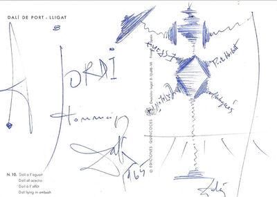 Salvador Dalí, 'Don Quixote, 1965 - Signed drawing', 1965
