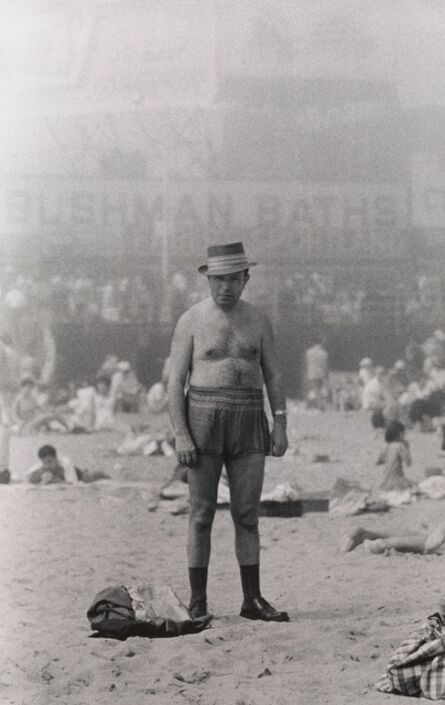 Diane Arbus, 'Man in hat, trunks, socks and shoes, Coney Island, N.Y. ', 1960