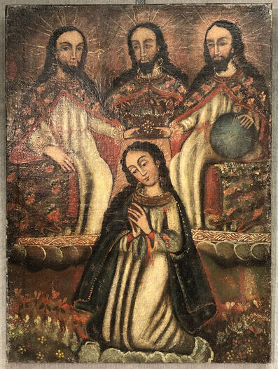 Cuzco School, 'Sacred Trinity of Christ', (Date unknown)