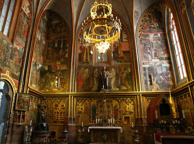 'Saint Wenceslas Chapel, Cathedral of Saint Vitus', ca. 1356