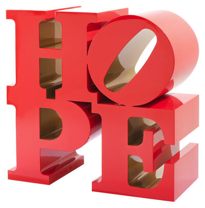 Robert Indiana, 'HOPE (red/ gold)', 2009