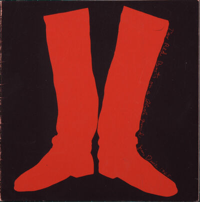 Jim Dine, 'Two Red Boots', 1969