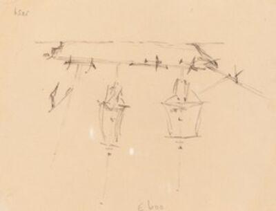 Edward Lear, 'A Sailing Ship [verso]', 1839/1845