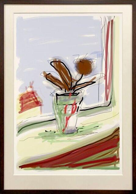 David Hockney, 'My Bedroom Window', 2009
