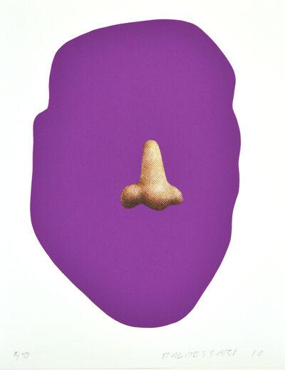 John Baldessari, 'Nose/Silhouette: Violet', 2010