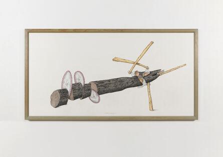 Ger van Elk, 'Attack Piece [study]', 1990