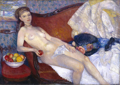 William James Glackens, 'Girl with Apple', 1909-1910