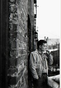 Allen Ginsberg, 'Heroic portrait of Jack Kerouac on fire-escape, 206 East 7th Street, New York', 1953