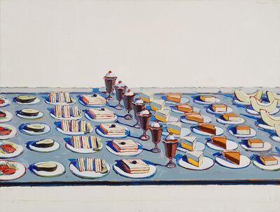 Wayne Thiebaud, 'Salads, Sandwiches, and Desserts', 1962