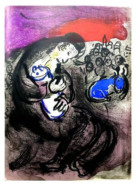 Marc Chagall, 'Original Lithograph depicting an instant of the Bible by Marc Chagall', 1956