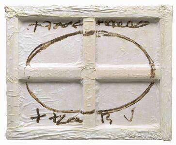 Antoni Tàpies, 'Oval sobre blanc', 2009