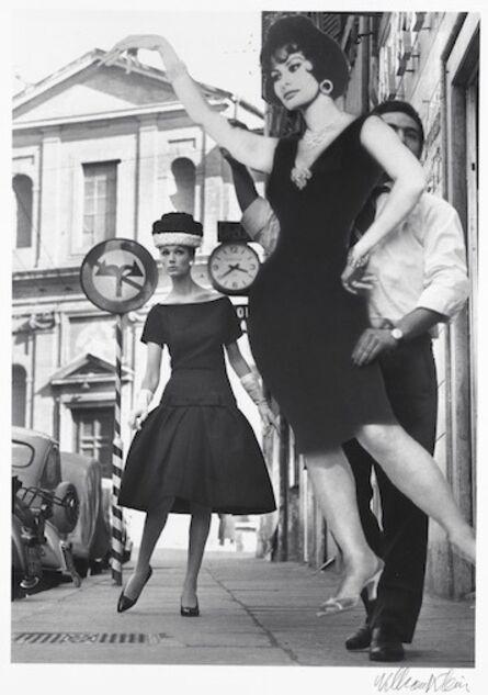 William Klein, 'Simone + Sophia Loren, Rome (Vogue)', 1960