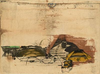 Johnny Friedlaender, ' Paysage jaune', ca. 1970