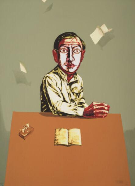 Zeng Fanzhi 曾梵志, 'Sitting Man, from Mask Series,', 2006