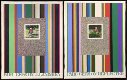 Tom Phillips, 'Parc Cefn On. Llanishen - Parc Cefn On. Reflected', c. 1973