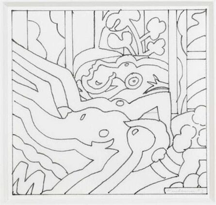 Tom Wesselmann, 'Sunset nude with the dream (study)', 2003