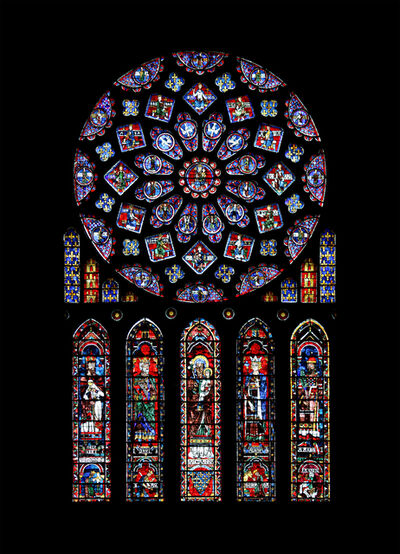 'Chartres Cathedral, stained glass windows', ca. 1220