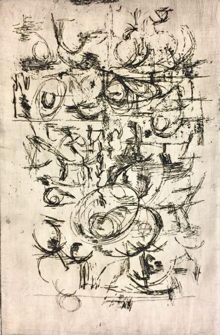 Louis Schanker, 'Abstraction #1', 1945