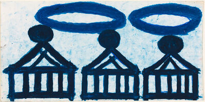 Evelyn Reyes, 'Three Cakes (Blue with Rubberbands)', 2004