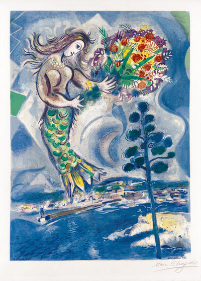 Marc Chagall, 'Sirène au Pine (Siren with Pine), from Nice & the Côte d'Azur', 1967